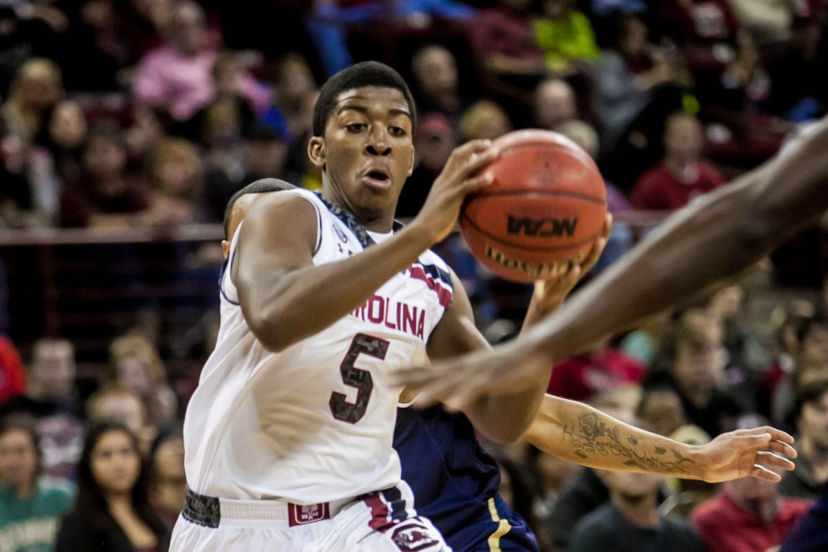 Jaylen Shaw was one of the few bright spots on an otherwise disappointing evening for South Carolina.