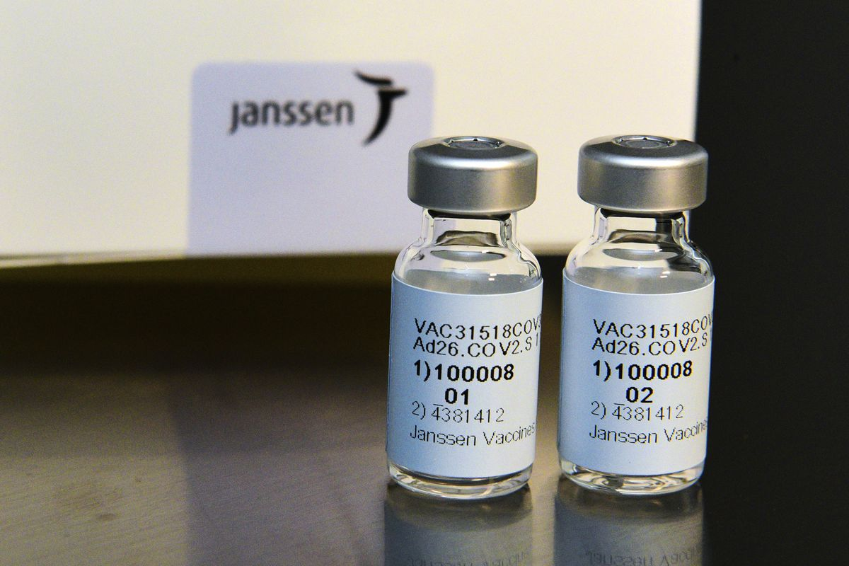 This September 2020 photo provided by Johnson & Johnson shows the investigational Janssen COVID-19 vaccine. Johnson & Johnson's long-awaited COVID-19 vaccine appears to protect against symptomatic illness with just one shot – not as strong as some two-shot rivals but still potentially helpful for a world in dire need of more doses.