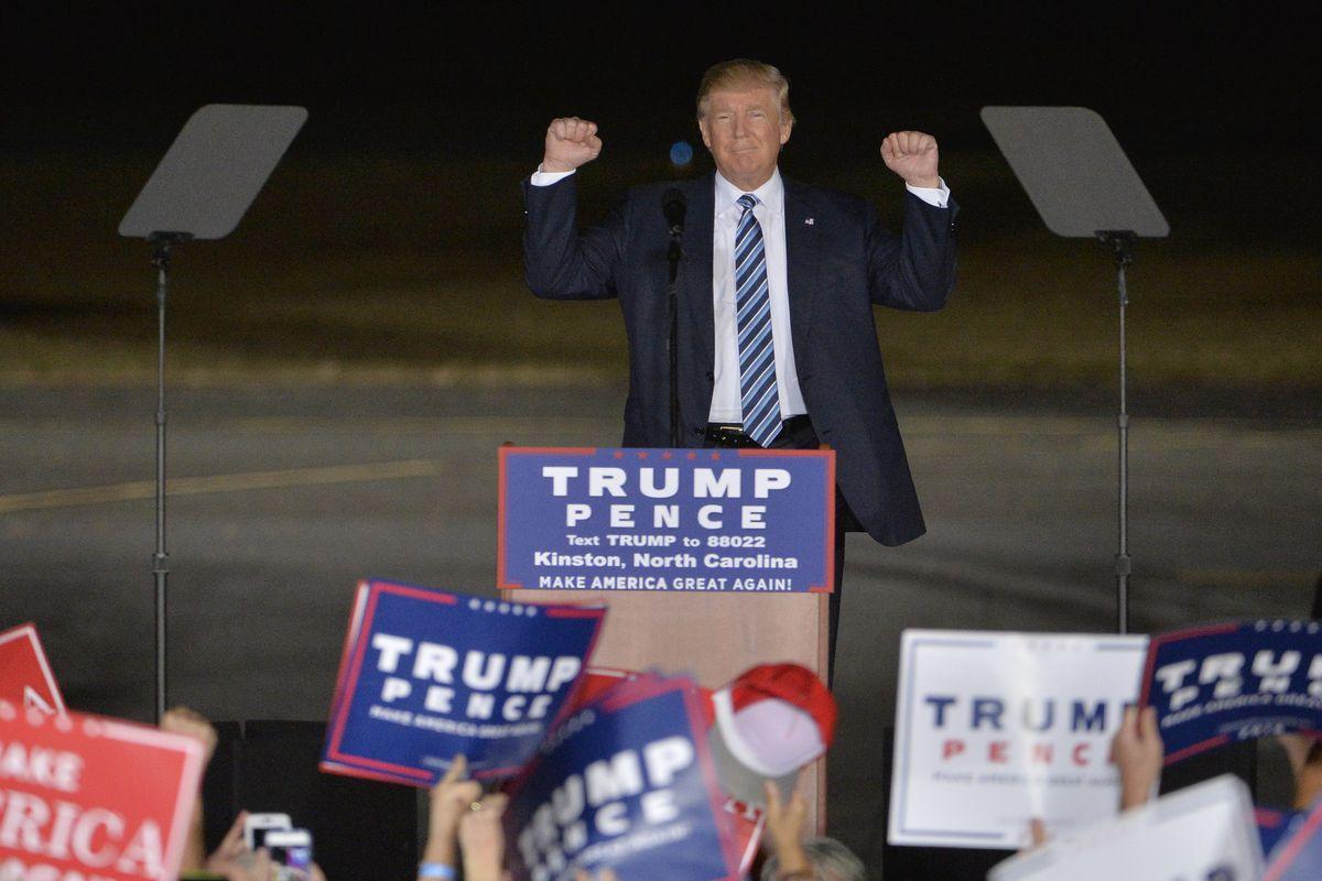 Donald Trump Campaigns In North Carolina Ahead Of Election