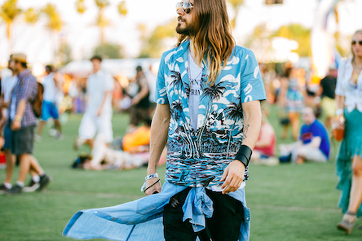 """Jared Leto at Coachella; Photo by <a href=""""http://peladopelado.com"""">Driely S.</a> for Racked"""