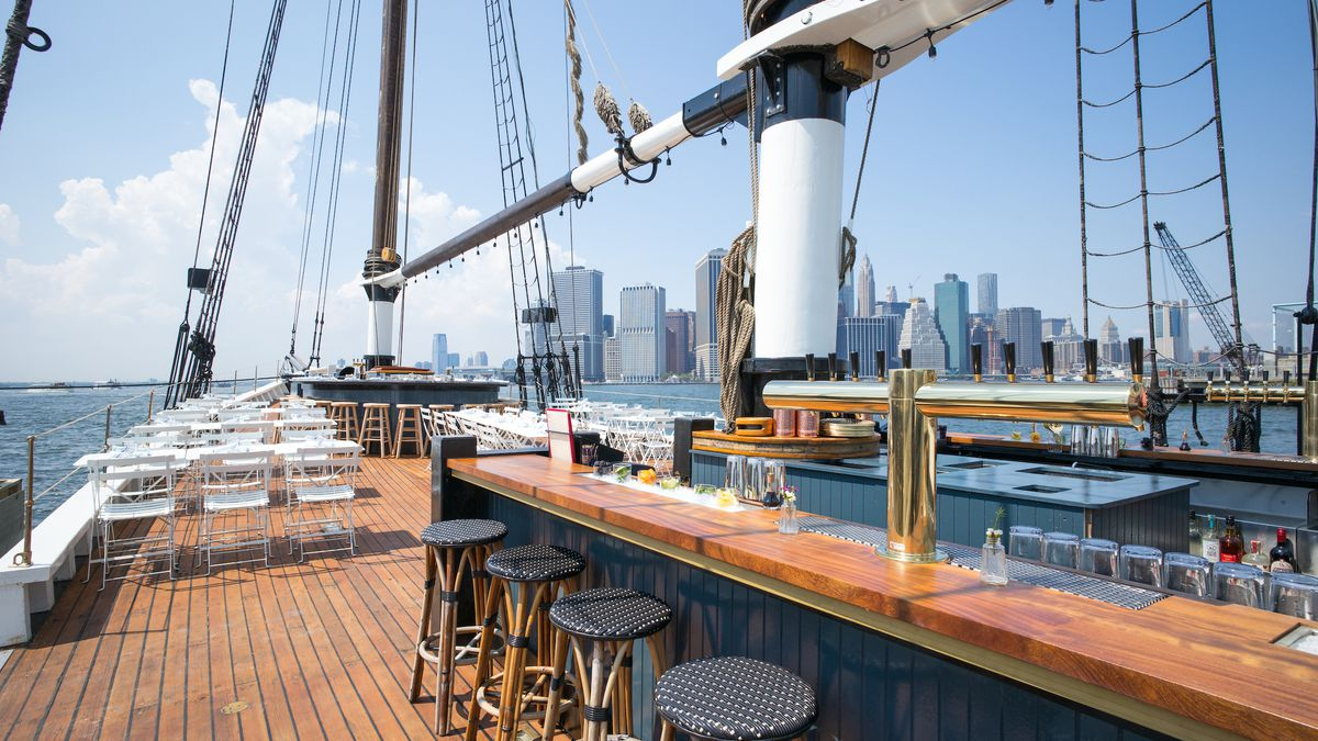 Say Hello To Pilot The New Floating Bar From Grand Banks