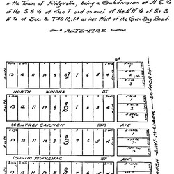 Early Andersonville showing Foster as its northern boundary and Ravenswood as the western boundary.   Provided by The Edgewater Historical Society