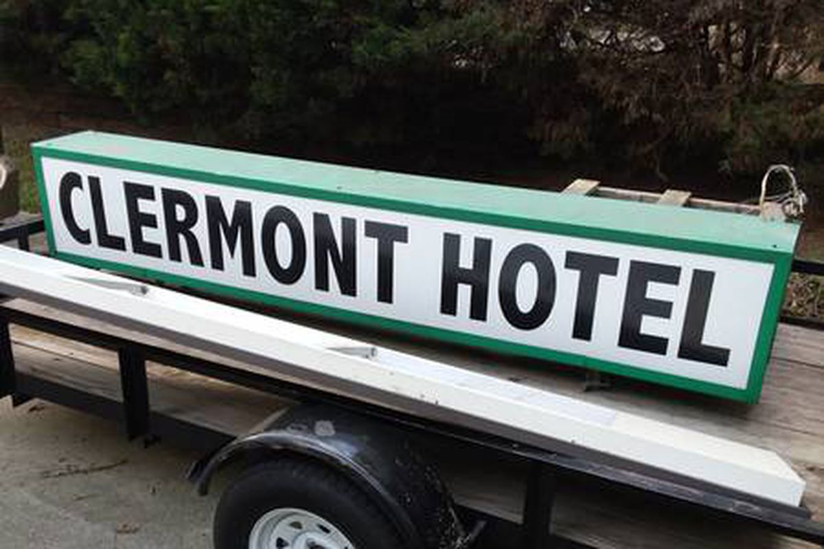 Clandestinely acquired clermont hotel sign for sale for Midtown motor inn boston