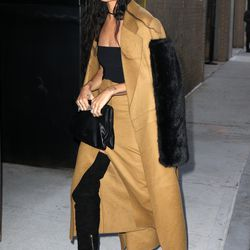 2/18: Arriving to the Calvin Klein show. Photo: Fame Flynet