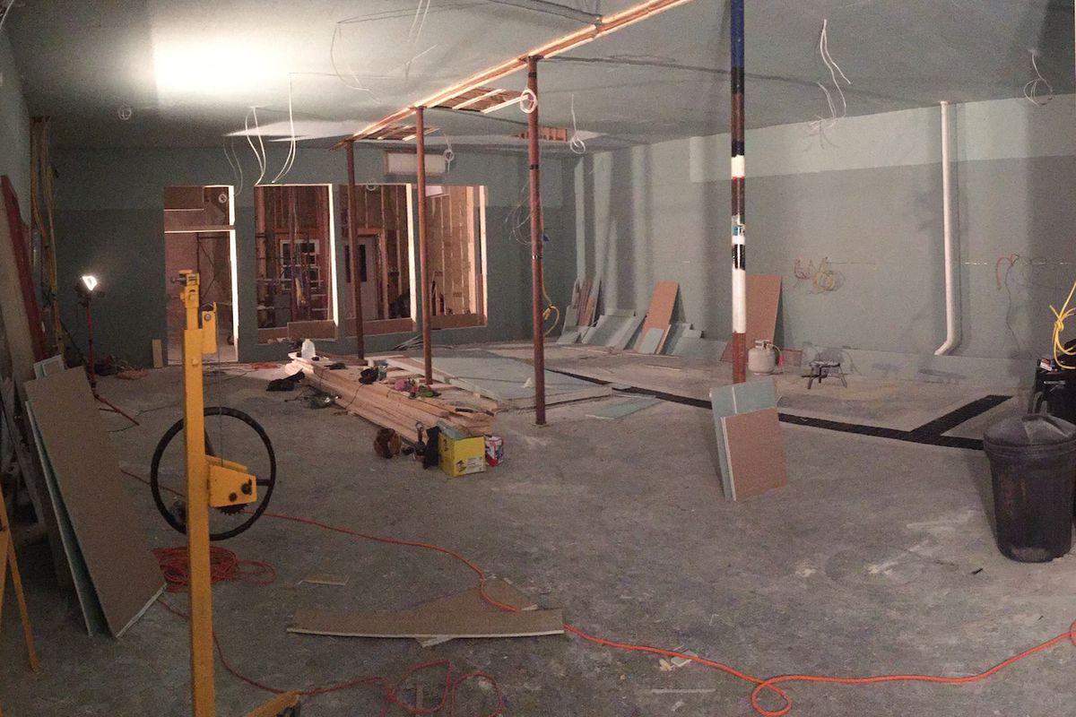 Construction progress.