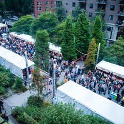 The scene from above at Friday night's Night Market.