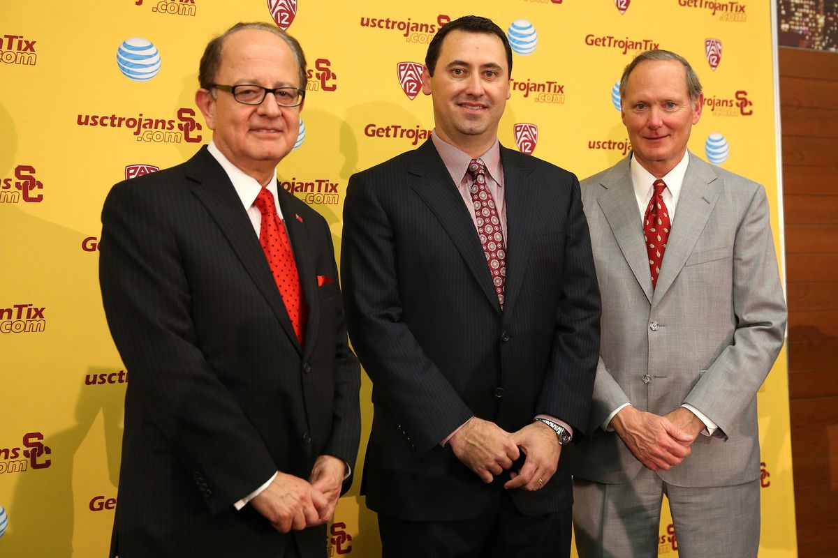 The new crew at USC. Different enough from the old crew that got the Trojans in NCAA trouble?