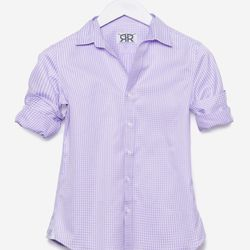 """The Tailored lavender check, <a href=""""http://doubler.com/collections/tailored/products/tailored-lavender-check"""">$195</a>"""