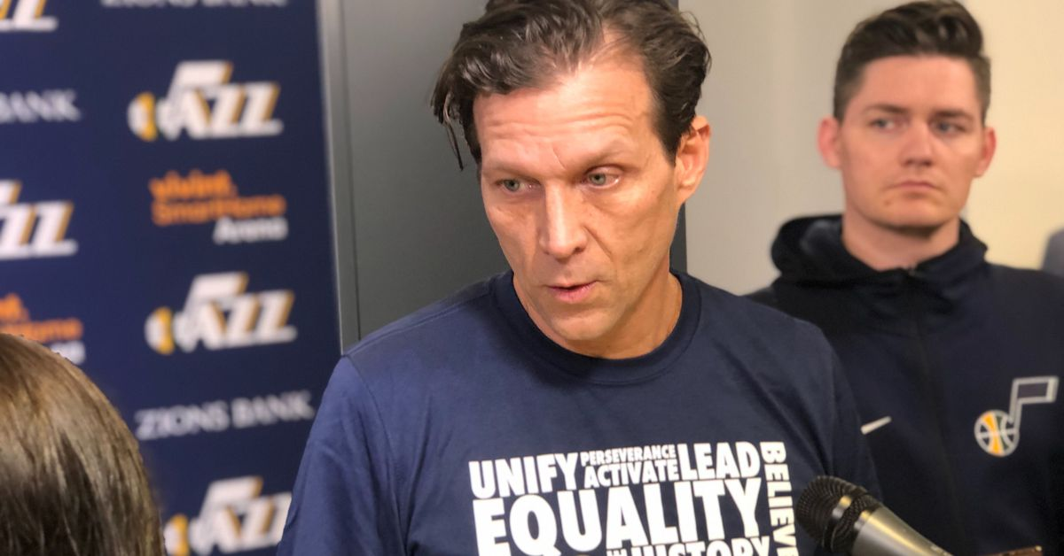 Utah Jazz head coach Quin Snyder emphasizes need...