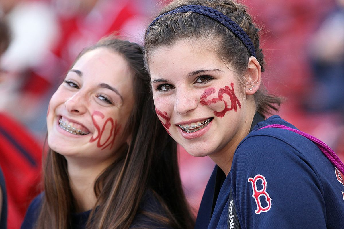 BOSTON, MA - MAY 11:  Boston Red Sox fans wait for the start of a game with the Cleveland Indians at Fenway Park May 11, 2012  in Boston, Massachusetts. (Photo by Jim Rogash/Getty Images)