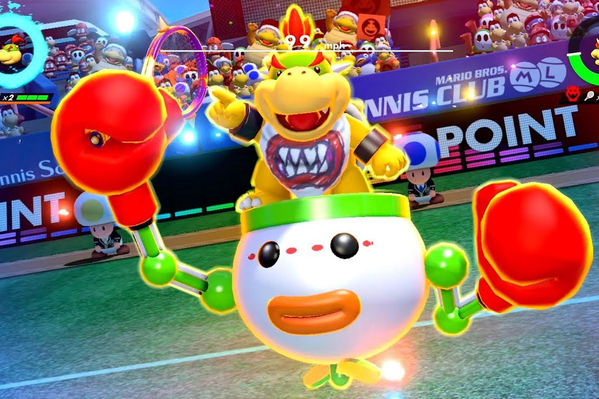 Mario Tennis Aces Update Will Nerf Bowser Jr Polygon