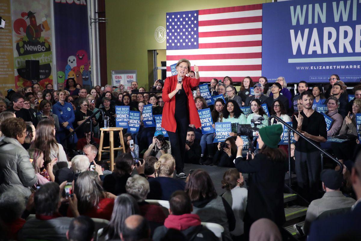 Democratic presidential candidate, Sen. Elizabeth Warren in Cedar Rapids, Iowa, on Sunday. File Photo.