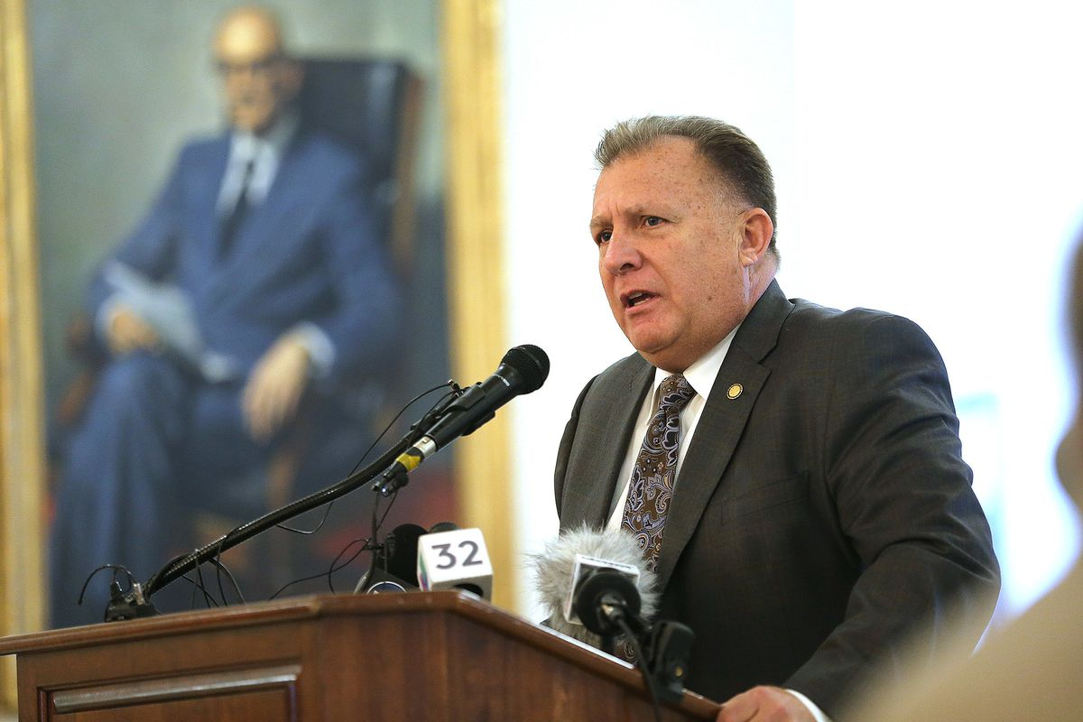 """Sen. Curt Bramble, R-Provo, discusses a bill that would make it illegal for a medical provider to perform an abortion if they have knowledge that the woman seeking the procedure is doing so for """"the sole reason"""" that the child would be born with Down synd"""