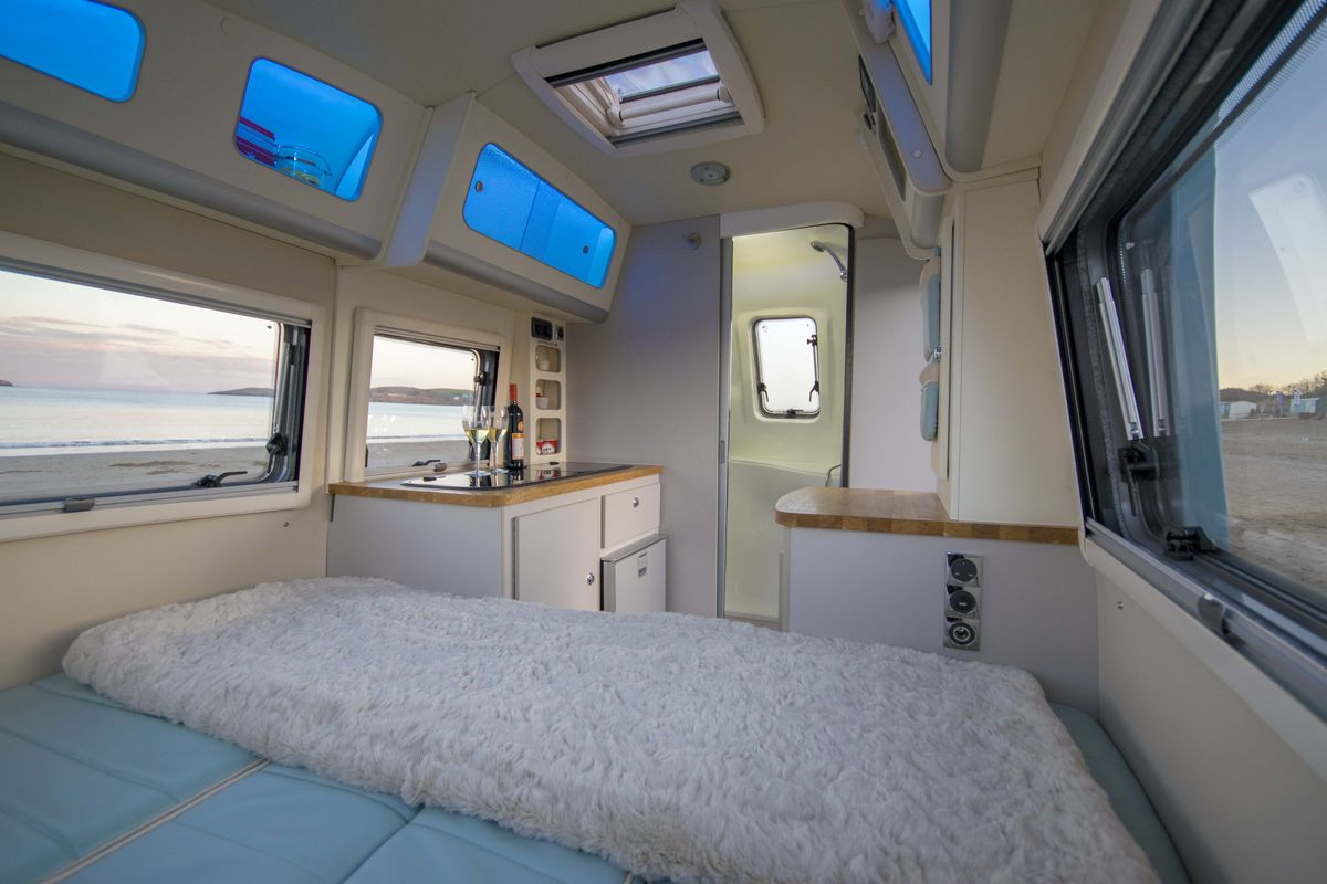 Camper Trailer Combines Retro Style With Modern Amenities