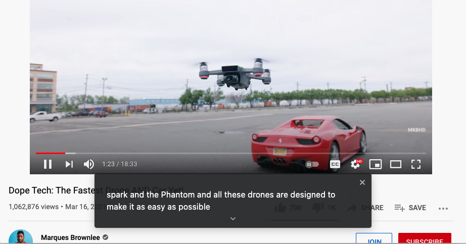 Chrome can now instantly caption audio and video on the web