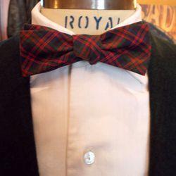 1950s deadstock cotton plaid bow tie ($35).