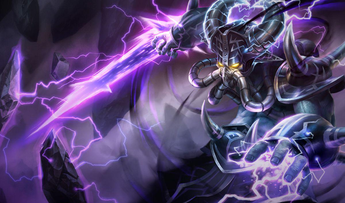 Kassadin slides using his void-based blade in his base skin splash art