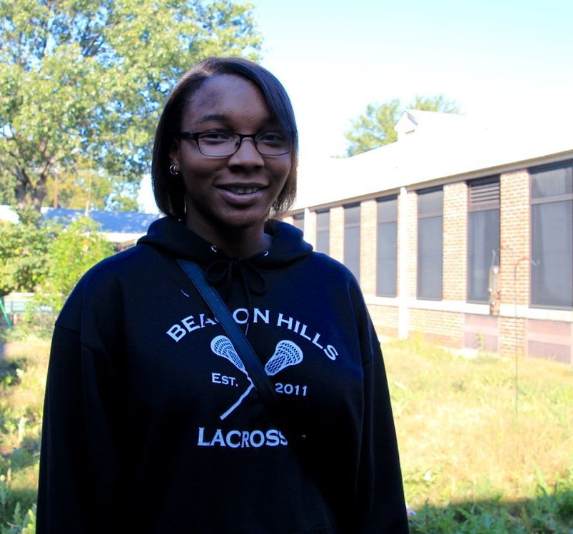 Sylvia Pugh joined the garden club at Kingsbury High School to learn how to garden for herself.