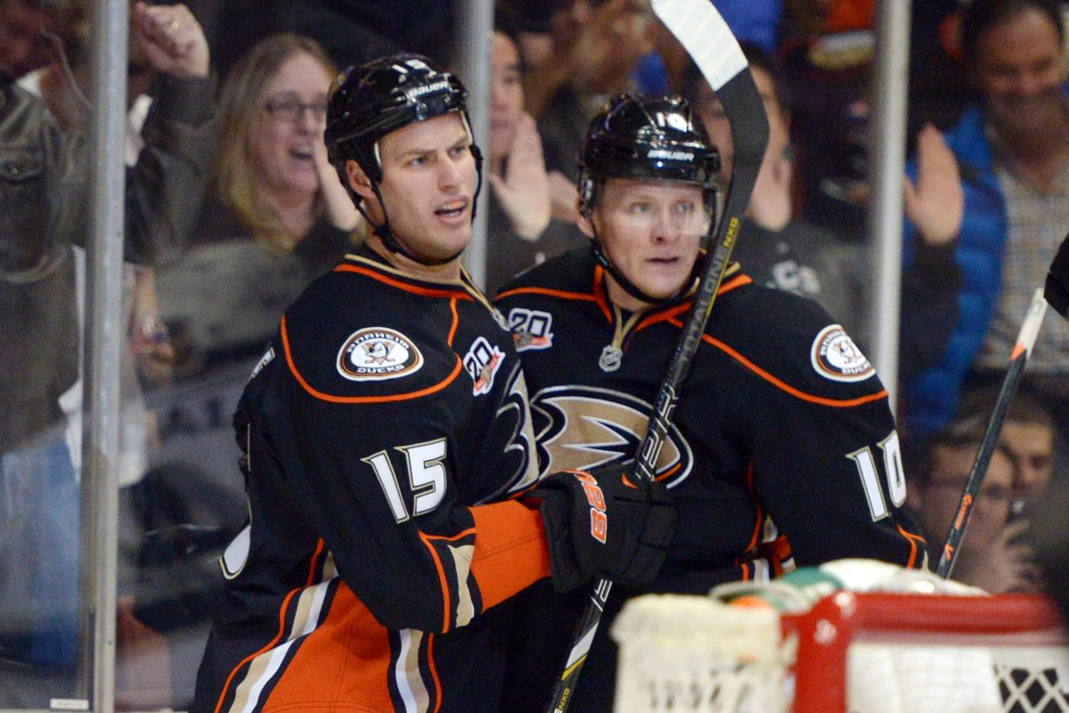 Corey Perry and Ryan Getzlaf scored two goals each against Carolina