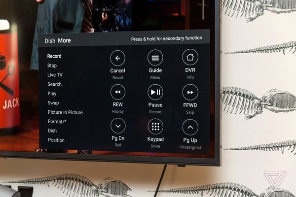 Caavo remote buttons UI