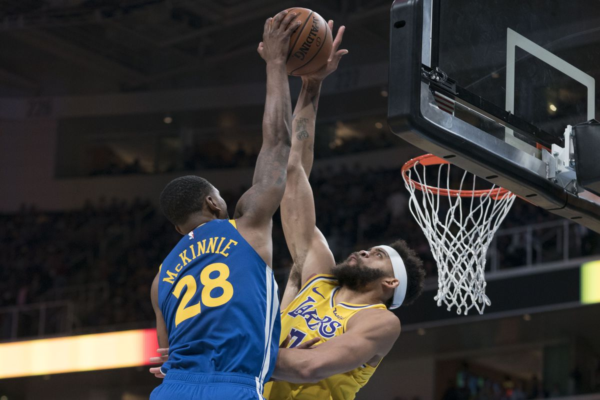 Image result for javale mcgee lakers block