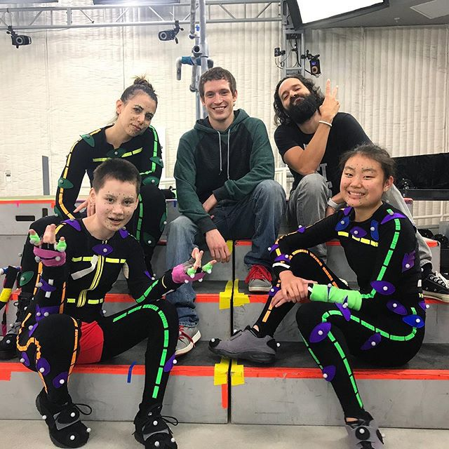 Motion capture actors working on The Last of Us Part II