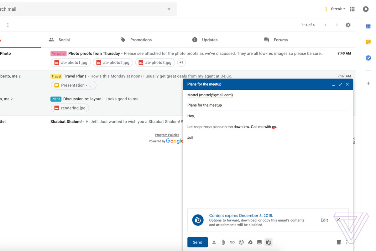 Gmail's confidential mode will be on by default for G Suite