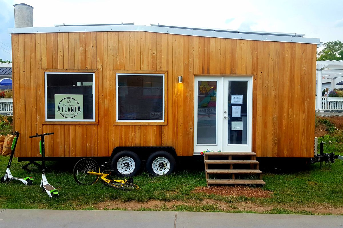 A photo of the tiny office on the Eastside Trail.