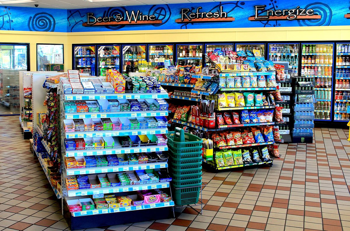 the interior of a convenience store.