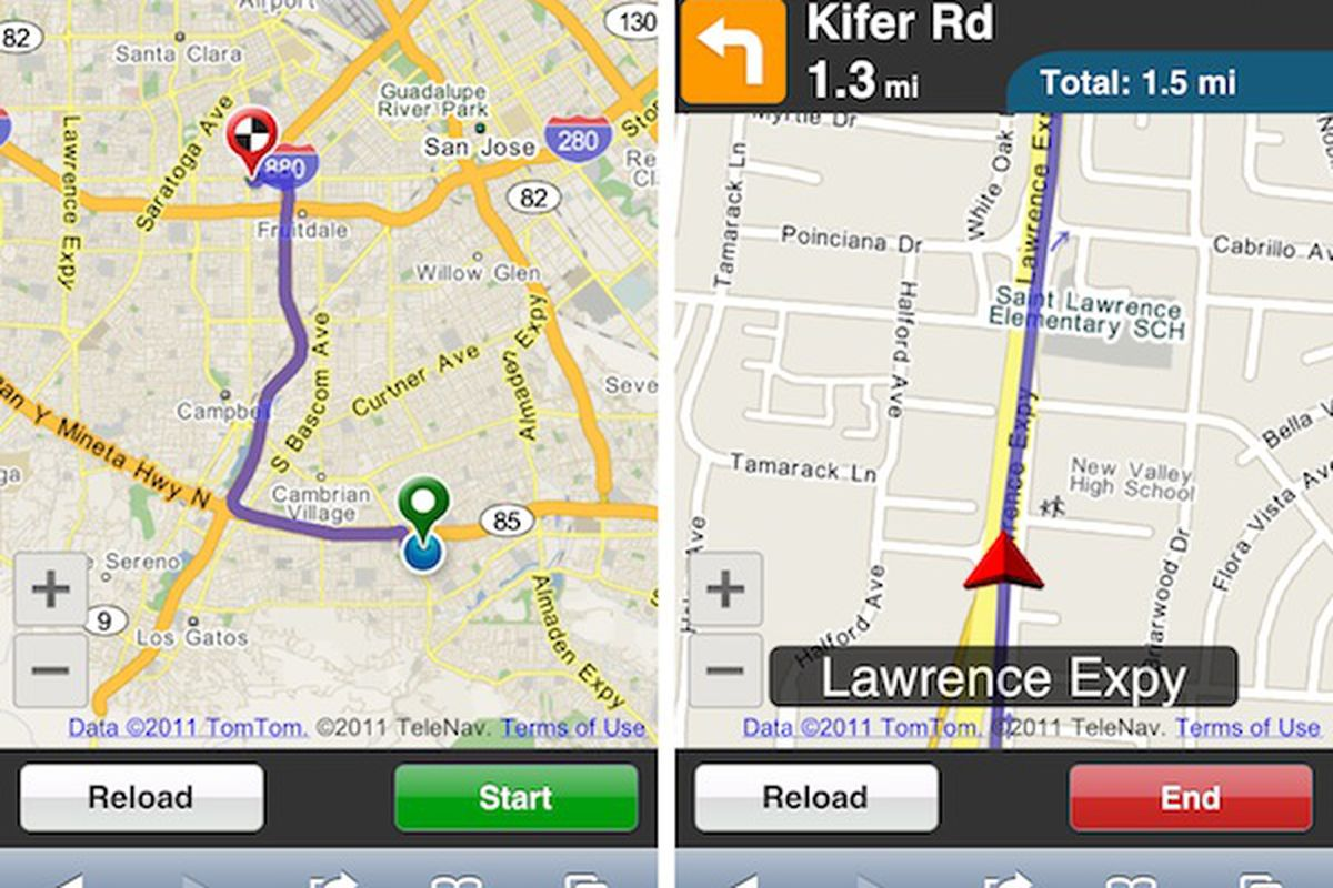 Telenav launches free navigation web app wants to put maps telenav html5 gumiabroncs Image collections