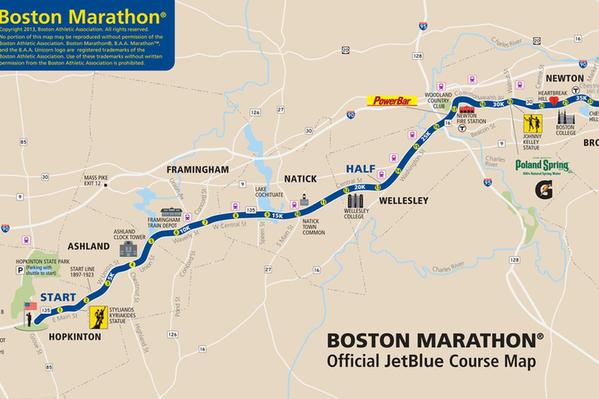 Boston Marathon Route Map Boston Marathon 2013: Route information, course map and more