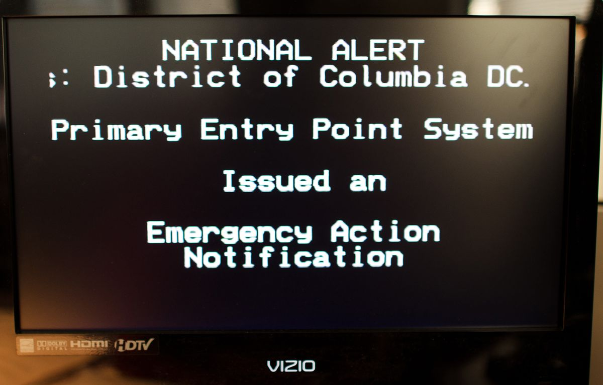 A 2011 test of the Emergency Alert System.