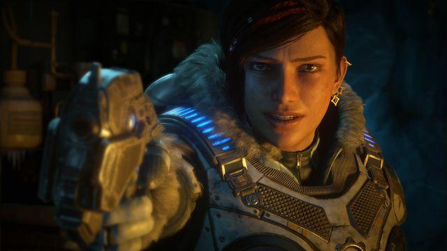 Kait Diaz, the protagonist of <em>Gears 5</em>.