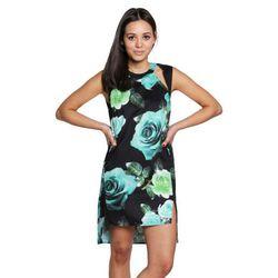 "<b>Shakuhachi</b> Rose Cutout Shift Dress, <a href=""http://americantwoshot.com/women/dresses/shakuhachi-turqouise-rose-cut-out-shift-dress"">$245</a> at American Two Shot"