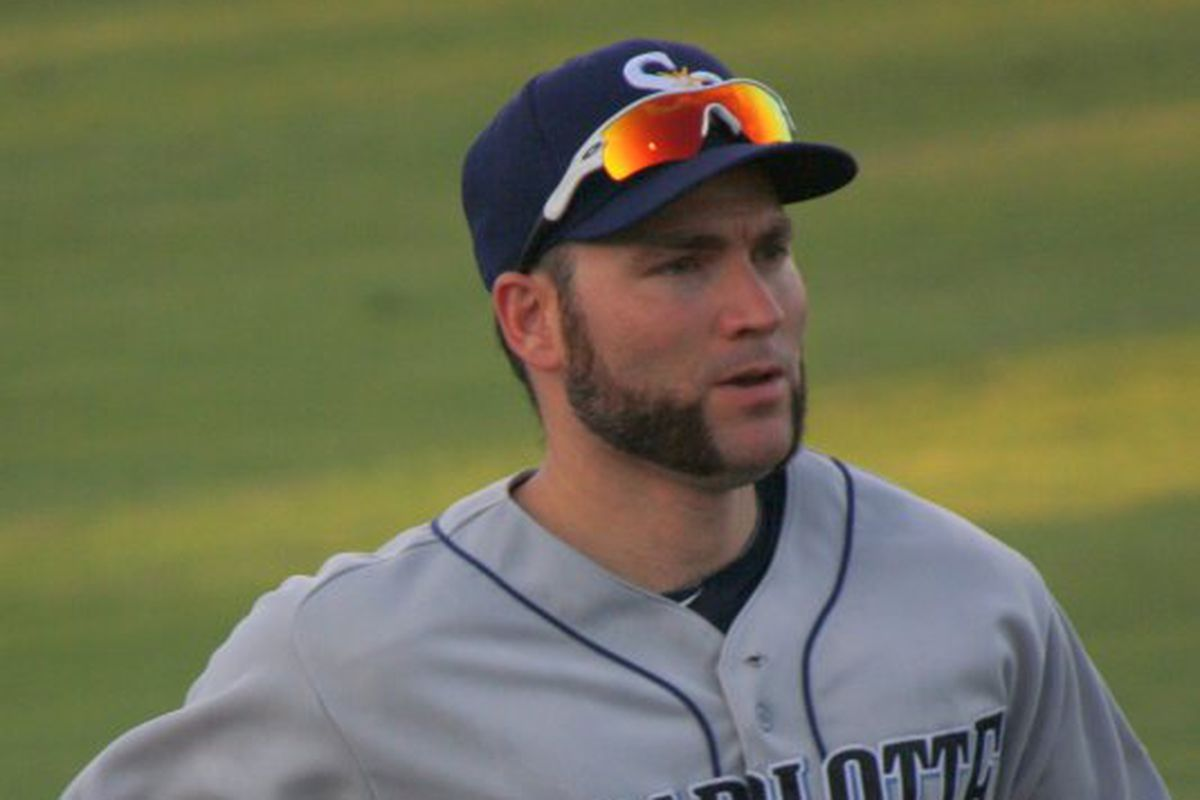 How long until we see Luke Scott back in a Rays uniform, and how long until we see him back in a Stone Crabs uniform after that?