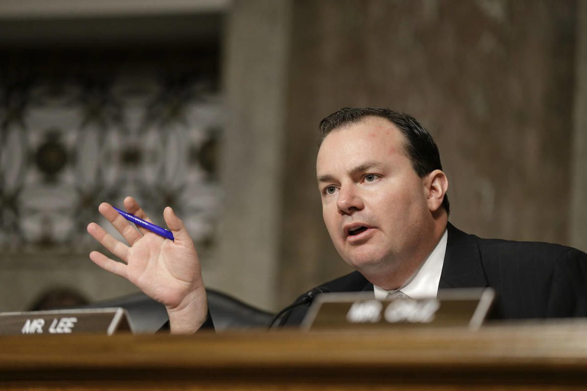 This Jan. 31, 2013, file photo, Sen. Mike Lee, R-Utah. Sen. Mike Lee introduced a resolution Monday calling for the Senate to review public policies that he says led to the illegal abortion practices of Philadelphia doctor currently on trial for murder.