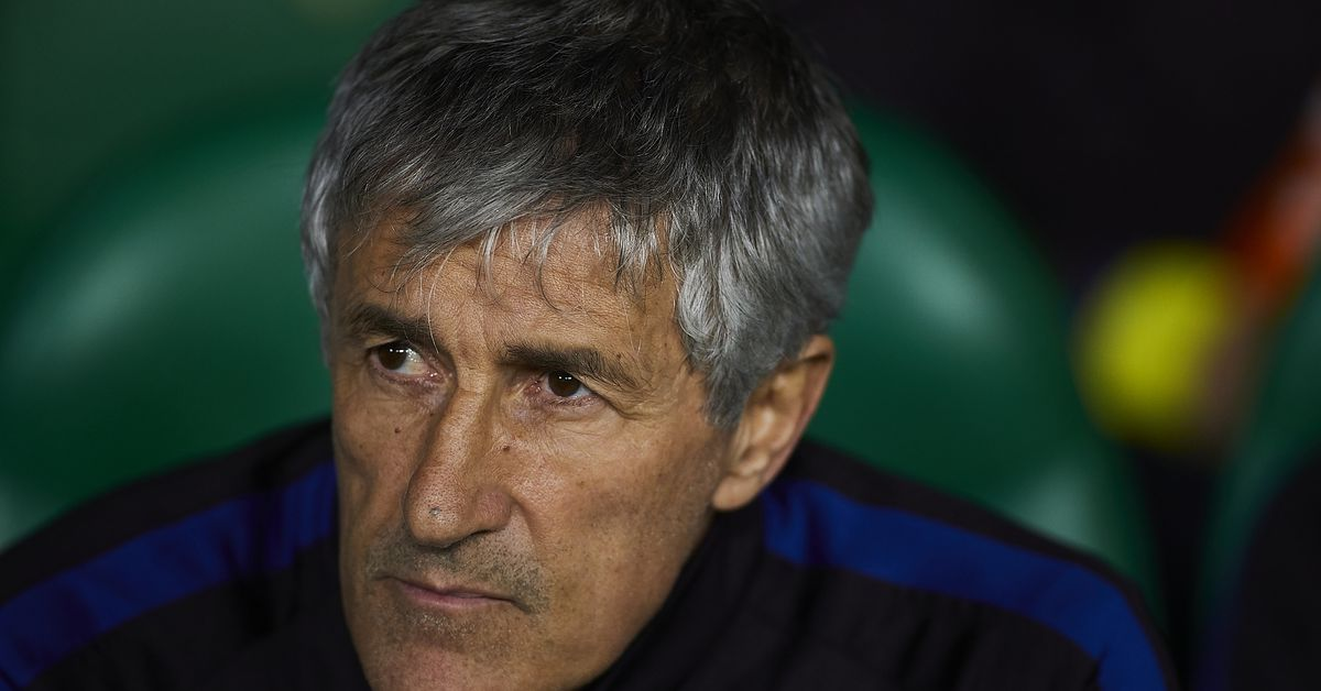 Quique Setién warning Barcelona that the squad isn't strong enough - report