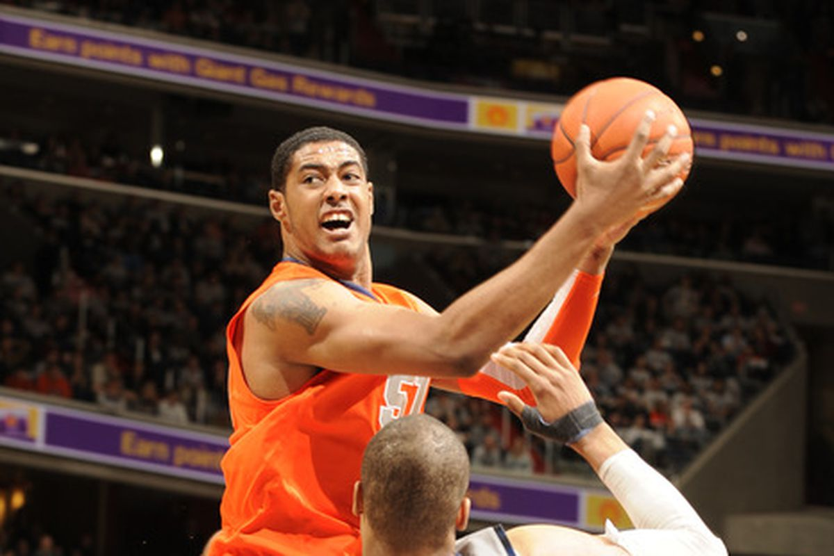 Fab Melo looking to develop his game as a member of the Maine Red Claws in the NBA D-League