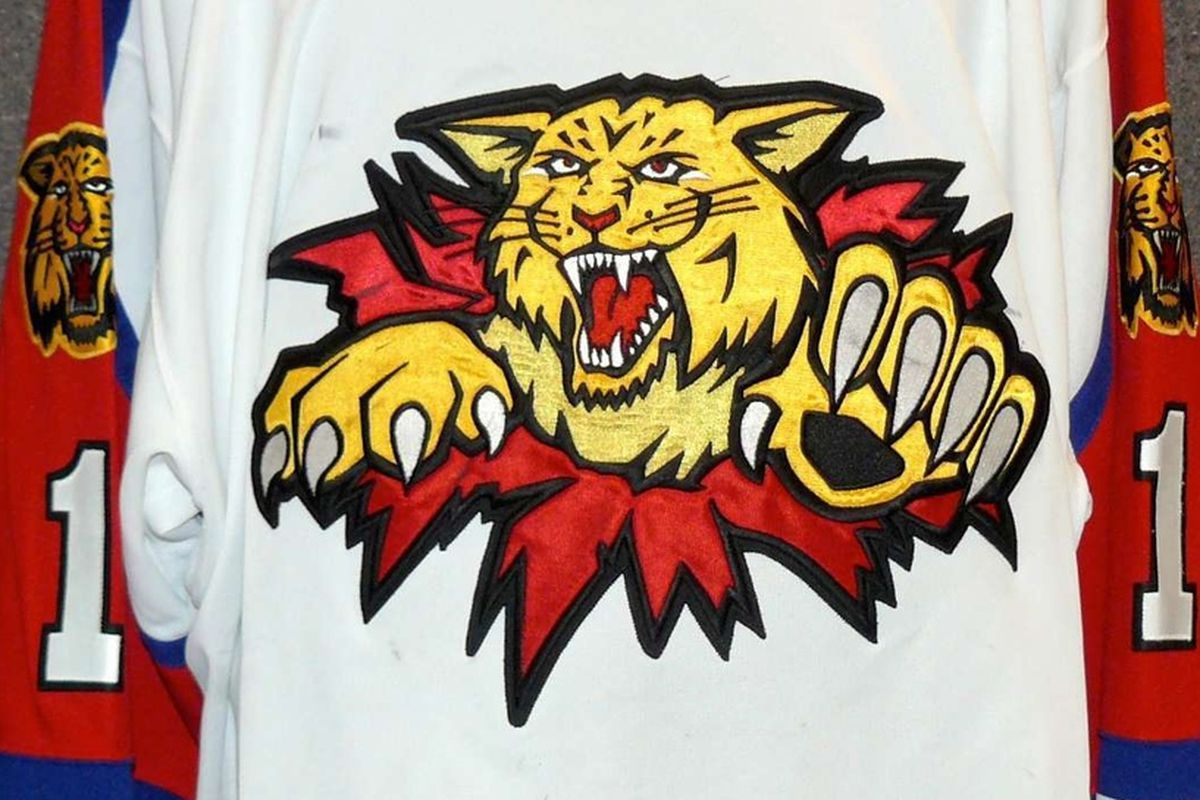 2010-11 game worn Moncton Wildcats (QMJHL) jersey; Blues prospect Dmitrij Jaskin, currently with the team, played for Moncton as an amateur