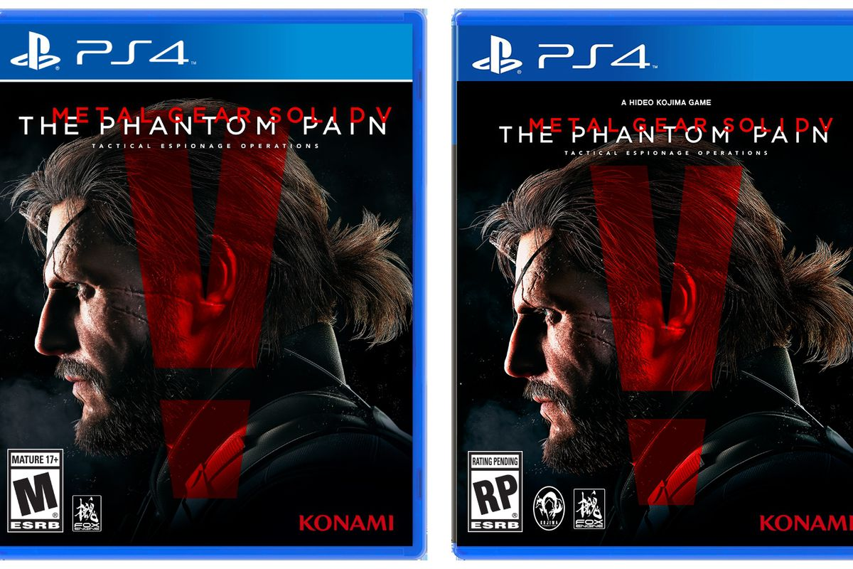 The box for Metal Gear Solid 5: The Phantom Pain also wipes its