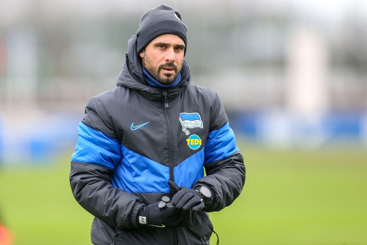 Training Hertha BSC with Alexander Nouri