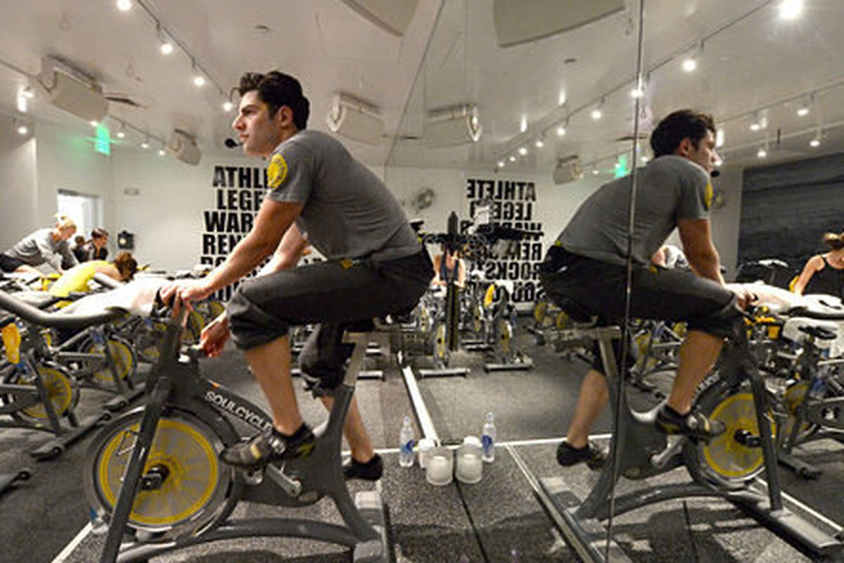Max Greenfield, BroCycler. Photo: Getty Images