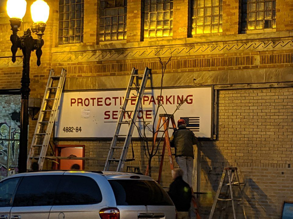 The Lincoln Towing sign was removed from the company's headquarters and replaced with a new sign. | Provided/Pete Gaines