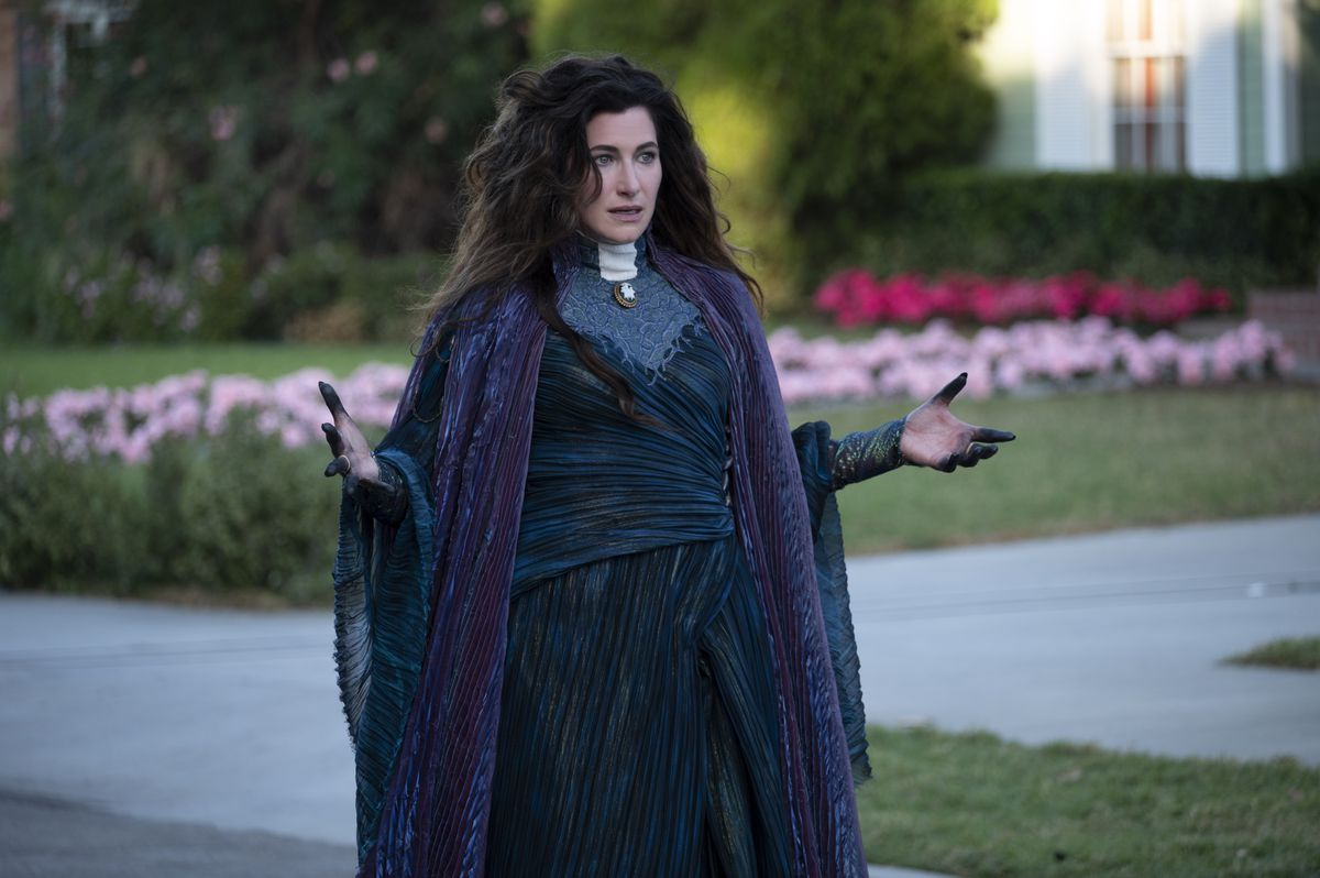 Kathryn Hahn in full Agatha costume in the finale of WandaVision