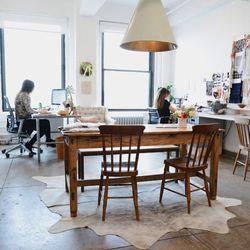 The SoHo office space of fashion designer Ula Johnson.