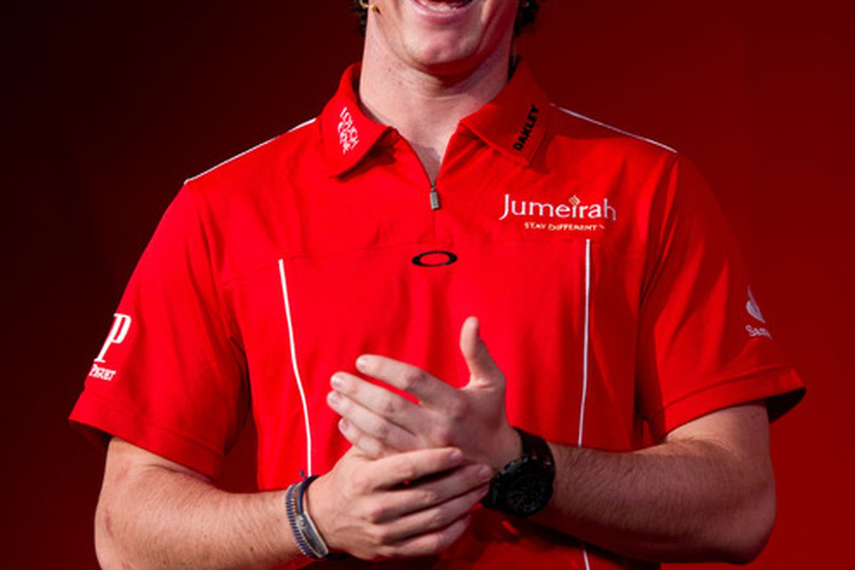 LONDON, ENGLAND - SEPTEMBER 22:  Rory McIlroy attends a Santander Media appearance at Santander Head Quarters on September 22, 2011 in London, United Kingdom. (Photo by Ian Gavan/Getty Images for Santander)