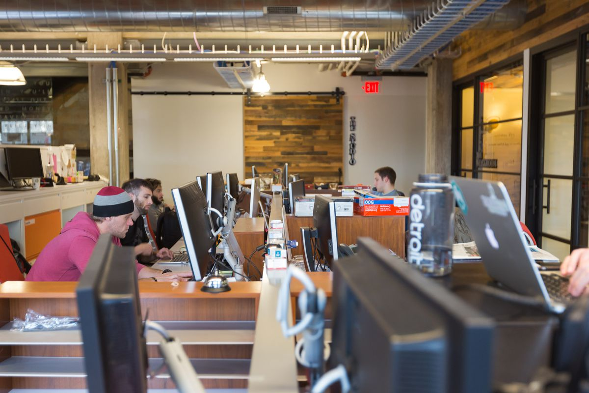 At work in Dan Gilbert's tech startup hub, the Madison Building
