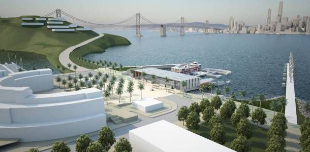 A rendering of new construction on Treasure Island.