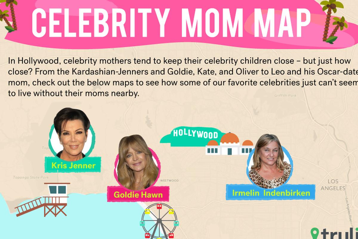 Celebrity mom map