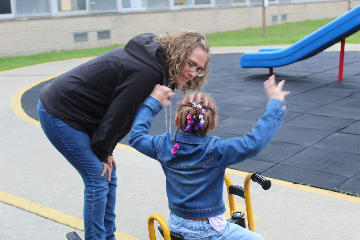 """Angela Prater, an assistant teacher at the Starfish Family Services Center on Hiveley Street in Inkster, said reflective supervision sessions """"makes us better teachers because we're not carrying it inside"""" Teachers, she said, are """"able to release it."""""""